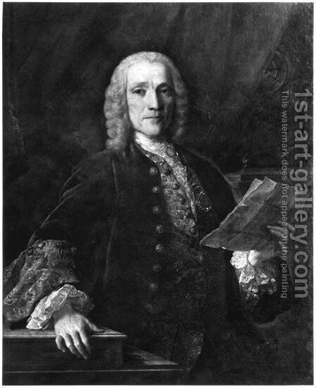 Portrait of Domenico Scarlatti 1686-1757 by Domingo Antonio de Velasco - Reproduction Oil Painting