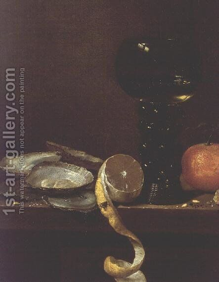 Still Life with Oysters by Jan III van de Velde - Reproduction Oil Painting