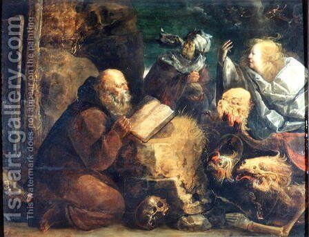 The Temptation of St. Anthony by Jan van de Venne - Reproduction Oil Painting