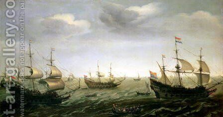 Houtmans Fleet by Cornelis Verbeeck - Reproduction Oil Painting
