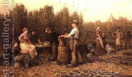 Hop Pickers by Arthur Verey - Reproduction Oil Painting