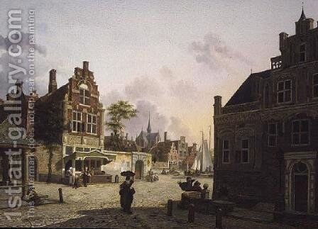 View of a Town by Isidore Verheyden - Reproduction Oil Painting