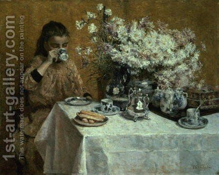 Afternoon Tea by Isidore Verheyden - Reproduction Oil Painting