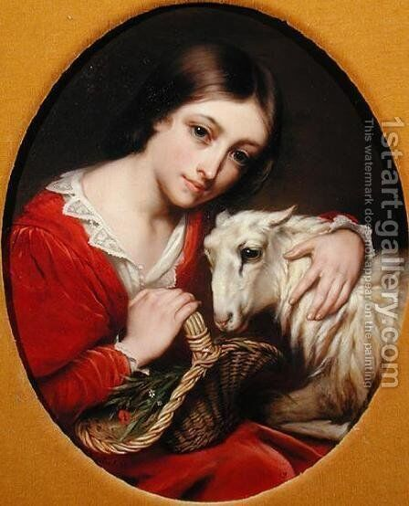 White, 1846 by Charles Verlat - Reproduction Oil Painting
