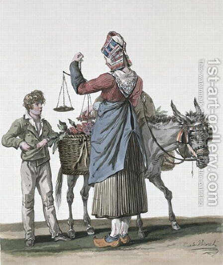 The Cherry Seller by Carle Vernet - Reproduction Oil Painting