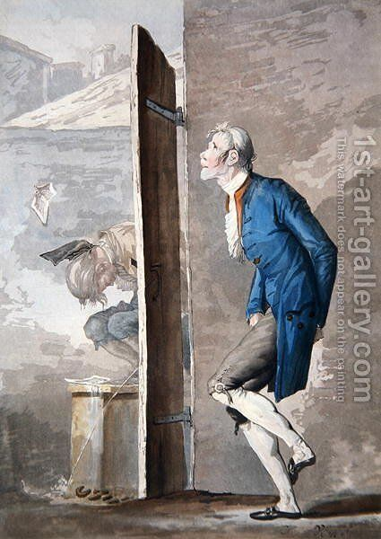 Each waiting turn by Carle Vernet - Reproduction Oil Painting