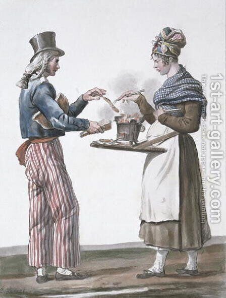 The sausage vendor by Carle Vernet - Reproduction Oil Painting