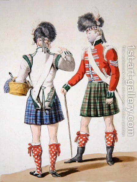 Scottish soldiers by Carle Vernet - Reproduction Oil Painting