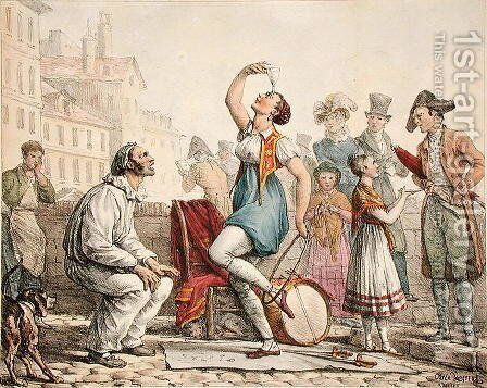 The Glass Balancer, 1815-30 by Carle Vernet - Reproduction Oil Painting