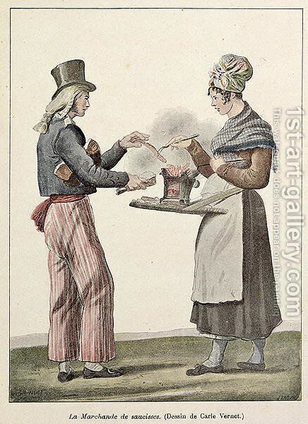 The Sausage Seller by Carle Vernet - Reproduction Oil Painting