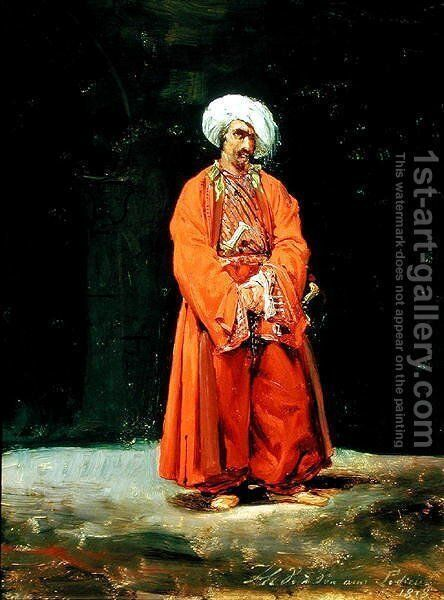 Portrait of an Oriental, 1818 by Carle Vernet - Reproduction Oil Painting
