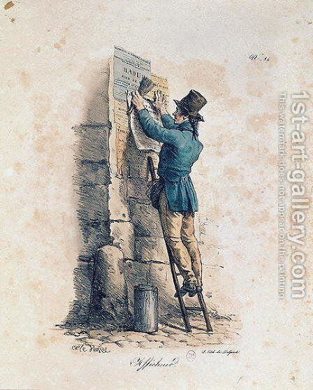 Billposter by Carle Vernet - Reproduction Oil Painting