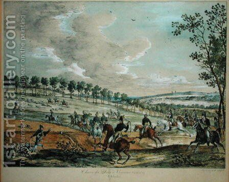 Hunting Deer at Verrieres, 29th April 1819 by Carle Vernet - Reproduction Oil Painting