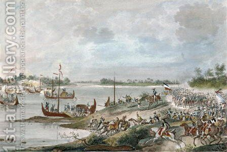 Crossing the Po at Piacenza, 19 Floreal Year 4 by Carle Vernet - Reproduction Oil Painting