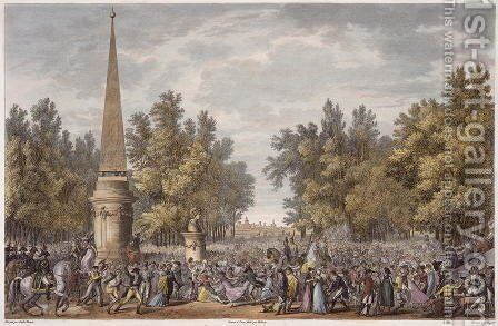 The Feast of Virgil at Mantua, 24 Vendemiaire, Year 6 October 1797 engraved by Georges Malbeste 1754-1843 by Carle Vernet - Reproduction Oil Painting