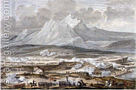 The Battle of Rivoli, 25 and 26 Nivose, Year 5 January 1797 engraved by Jean Duplessi-Bertaux 1747-1819 by Carle Vernet - Reproduction Oil Painting