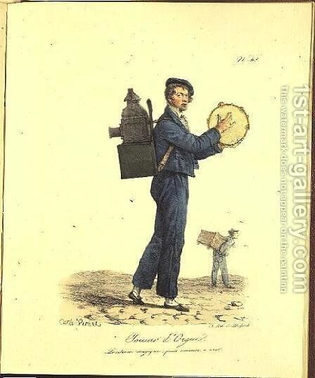 Street Musician, 1820-22 by Carle Vernet - Reproduction Oil Painting