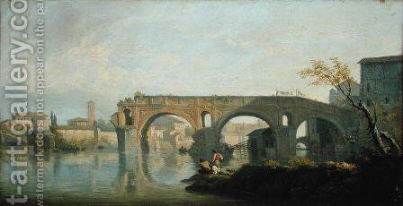 The Ponte Rotto, Rome by Claude-joseph Vernet - Reproduction Oil Painting
