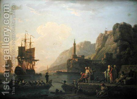 The Harbour by Claude-joseph Vernet - Reproduction Oil Painting