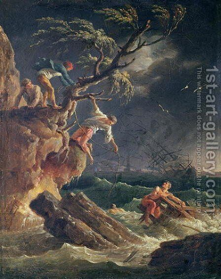 The Tempest, c.1762 by Claude-joseph Vernet - Reproduction Oil Painting