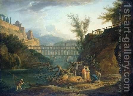 Noon, 1760 by Claude-joseph Vernet - Reproduction Oil Painting