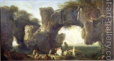 View of Sorrento by Claude-joseph Vernet - Reproduction Oil Painting