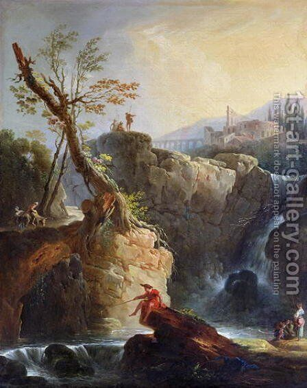 The Waterfall, 1773 by Claude-joseph Vernet - Reproduction Oil Painting