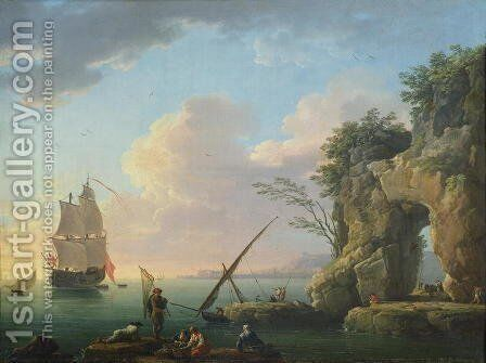 Seascape, 1748 by Claude-joseph Vernet - Reproduction Oil Painting