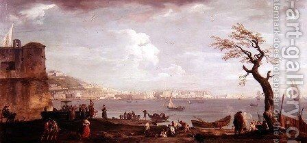 Bay of Naples from the South by Claude-joseph Vernet - Reproduction Oil Painting