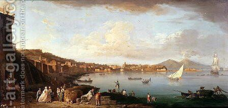 Bay of Naples from the North by Claude-joseph Vernet - Reproduction Oil Painting