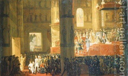 The Coronation of the Empress Maria Fyodorovna 1759-1828 1797 by Horace Vernet - Reproduction Oil Painting