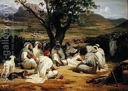 Meeting of Arab Chiefs by Horace Vernet - Reproduction Oil Painting