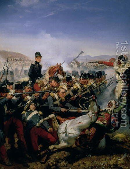 The Battle of Somah, 1839 by Horace Vernet - Reproduction Oil Painting