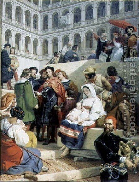 Raphael in the Vatican, 1832 by Horace Vernet - Reproduction Oil Painting