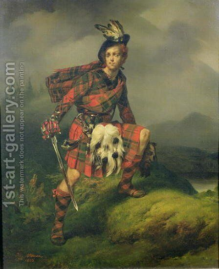 Allan MAulay, 1823 by Horace Vernet - Reproduction Oil Painting