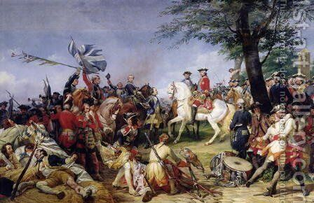The Battle of Fontenoy, 11th May 1745, 1828 by Horace Vernet - Reproduction Oil Painting