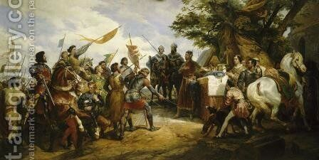 The Battle of Bouvines, 27th July 1214, 1827 by Horace Vernet - Reproduction Oil Painting