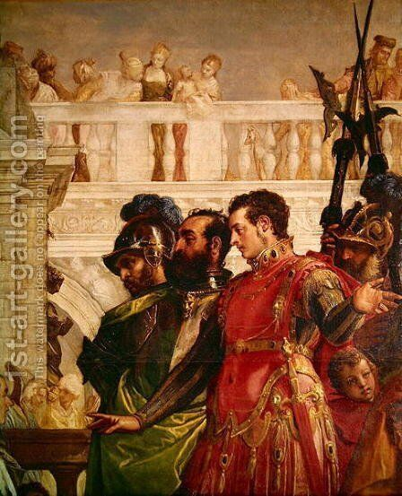 Family of Darius before Alexander the Great 2 by Paolo Veronese (Caliari) - Reproduction Oil Painting