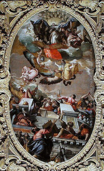 Assumption of the Virgin by Paolo Veronese (Caliari) - Reproduction Oil Painting