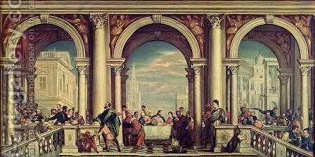 The Feast in the House of Levi by Paolo Veronese (Caliari) - Reproduction Oil Painting