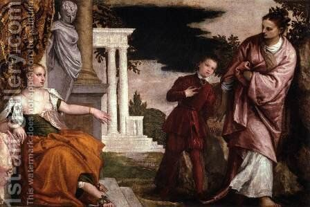A Young Man Between Virtue and Vice by Paolo Veronese (Caliari) - Reproduction Oil Painting