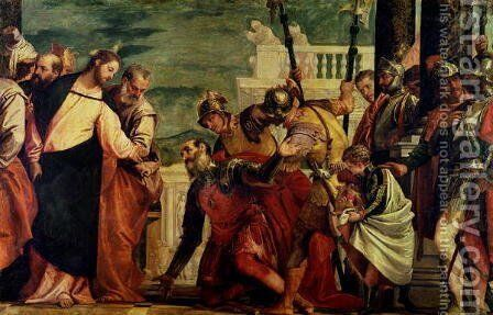 Jesus and the Centurion by Paolo Veronese (Caliari) - Reproduction Oil Painting