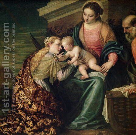 The Mystic Marriage of St. Catherine of Alexandria by Paolo Veronese (Caliari) - Reproduction Oil Painting