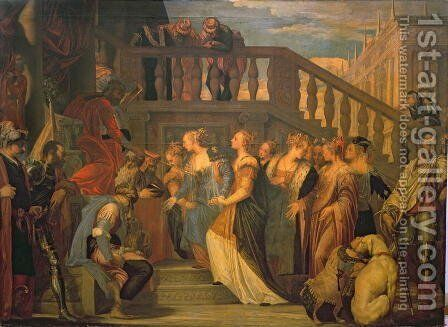Esther and Ahasuerus by Paolo Veronese (Caliari) - Reproduction Oil Painting