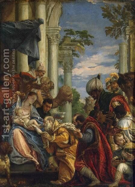 Adoration of the Magi, 1570s by Paolo Veronese (Caliari) - Reproduction Oil Painting