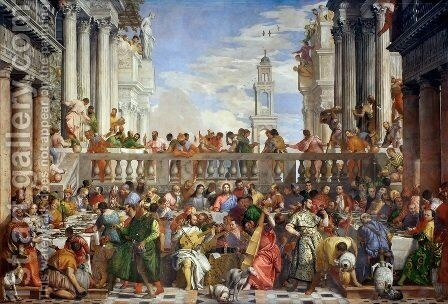 The Marriage Feast at Cana, c.1562 by Paolo Veronese (Caliari) - Reproduction Oil Painting