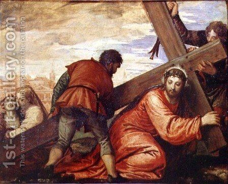 Christ Sinking under the Weight of the Cross by Paolo Veronese (Caliari) - Reproduction Oil Painting