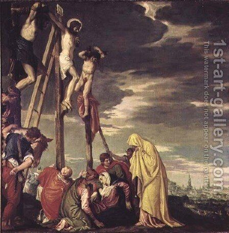 Calvary by Paolo Veronese (Caliari) - Reproduction Oil Painting