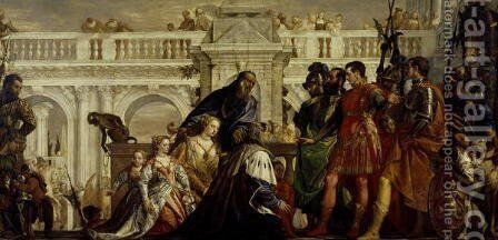 Family of Darius before Alexander the Great 3 by Paolo Veronese (Caliari) - Reproduction Oil Painting