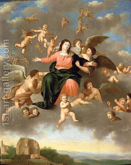 The Ascension of the Virgin by Daniel Vertangen - Reproduction Oil Painting